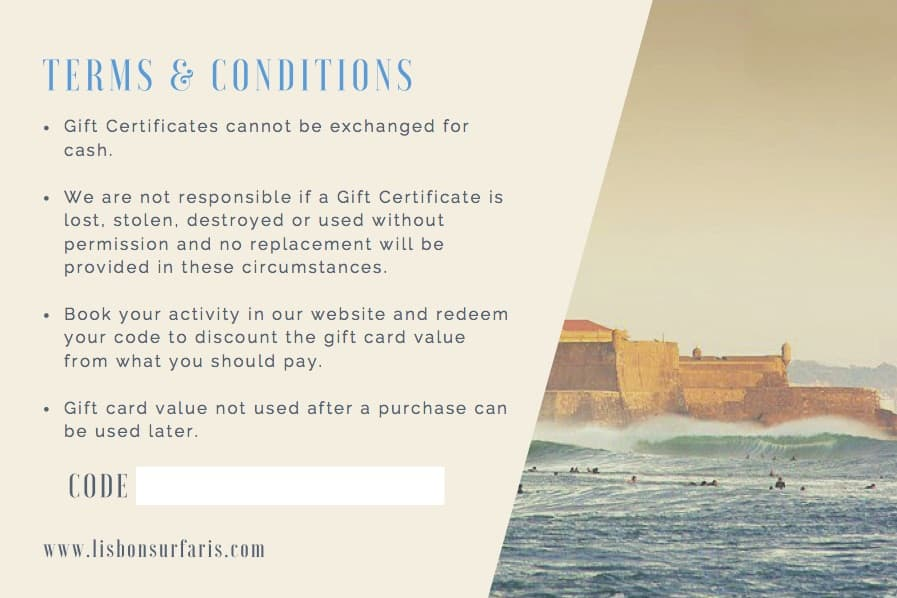 Lisbon Surfaris Gift Card